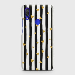 XIAOMI REDMI NOTE 7 Glitter Heart Stripes Case