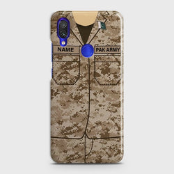 XIAOMI REDMI NOTE 7 Army Costume With custom Name Case