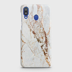 SAMSUNG GALAXY M20 White & Gold Marble Case