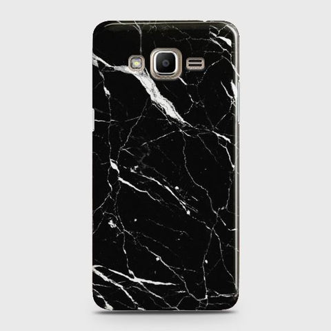 Samsung Galaxy J7 2015 Trendy Black Marble design Case
