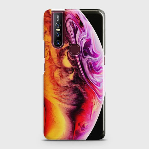 VIVO V15 Texture Colorful Moon Case