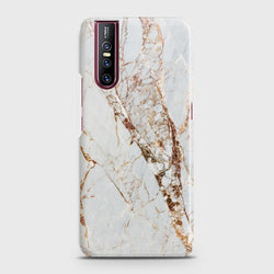 VIVO V15 PRO White & Gold Marble Case