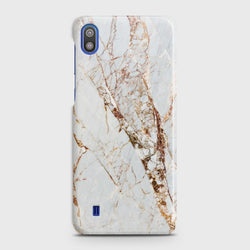 SAMSUNG GALAXY A10 White & Gold Marble Case
