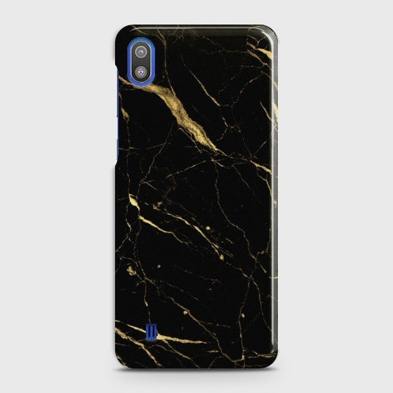 SAMSUNG GALAXY A10 Classic Golden Black Marble Case