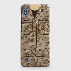 SAMSUNG GALAXY A10 Army Costume WIth Custom Name Case