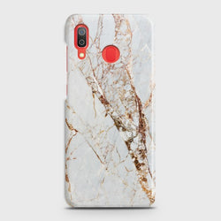 SAMSUNG GALAXY A20 White & Gold Marble Case
