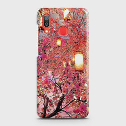 SAMSUNG GALAXY A30 Pink blossoms Lanterns Case