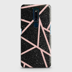 OPPO F11 PRO Black Sparkle Glitter With RoseGold Lines Case