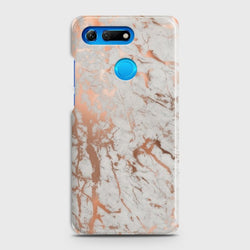 HUAWEI HONOR VIEW 20 Chic Rose Gold Chrome Style Printd Case