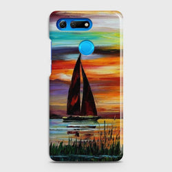 HUAWEI HONOR VIEW 20 Sailing Boat Sunset Oil Painting Case