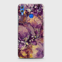 HUAWEI P SMART 2019 Purple Agate Marble Case