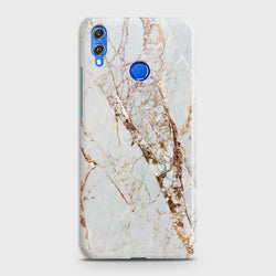 HUAWEI P SMART 2019 White & Gold Marble Case