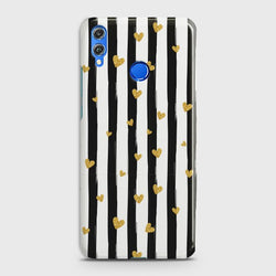 HUAWEI P SMART 2019 Glitter Heart Stripes Case