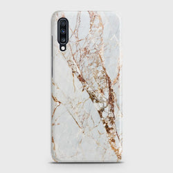 SAMSUNG GALAXY A70 White & Gold Marble Case