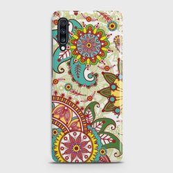 SAMSUNG GALAXY A70 Seamless Paisley Flowers Case
