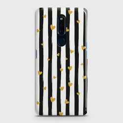 OPPO F11 Glitter Heart Stripes Case