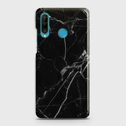 HUAWEI P30 LITE Black Classic Marble Case