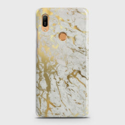 HUAWEI Y6 PRO 2019 Gold Chrome Effect Print Case