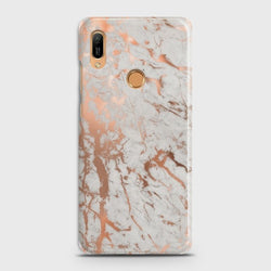 HUAWEI Y6 PRO 2019 Chic Rose Gold Chrome Style Print Case