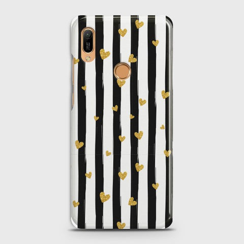 HUAWEI Y6 (2019) Glitter Heart Stripes Case