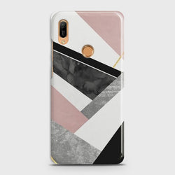 HUAWEI Y6 PRIME 2019 Geometric Luxe Marble Case