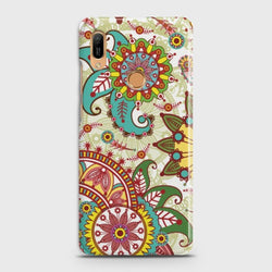 HUAWEI Y6 PRIME 2019 Seamless Paisley Flowers Case