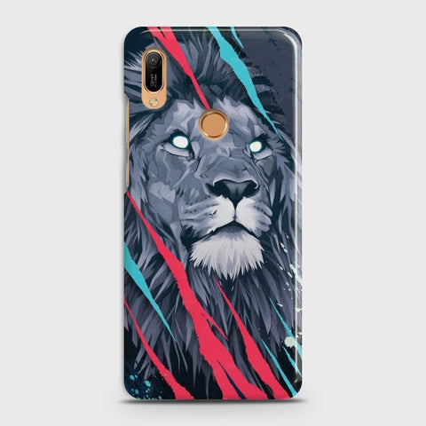 HUAWEI Y6 (2019) Abstract Animated Lion Case