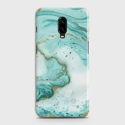 OnePlus 7 Aqua Blue Marble Customized Case Buy in Pakistan