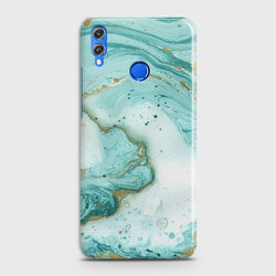 Huawei Honor 8C Aqua Blue Marble Case