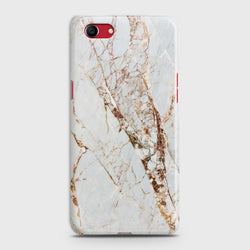 OPPO A1K White & Gold Marble Case