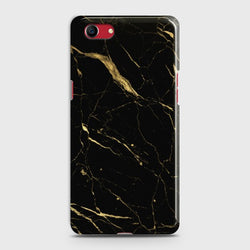 OPPO A1K Classic Golden Black Marble Case