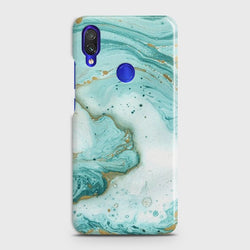 XIAOMI REDMI 7 Aqua Blue Marble Customized Case