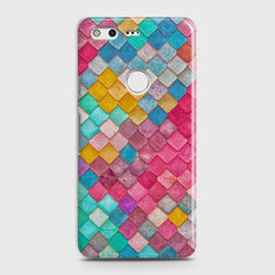 GOOGLE PIXEL XL Colorful Mermaid Scales Case