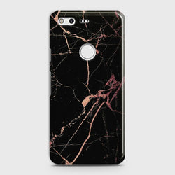 GOOGLE PIXEL XL Black Rose Gold Marble Case