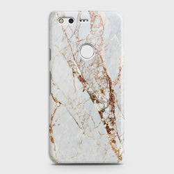 GOOGLE PIXEL White & Gold Marble Case