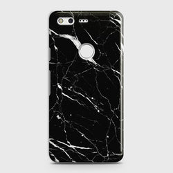 GOOGLE PIXEL XL Trendy Black Marble Case