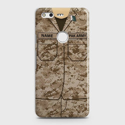 GOOGLE PIXEL XL Army Costume with custom name Case