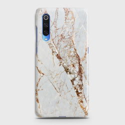 XIAOMI MI 9 White & Gold Marble Case