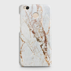 XIAOMI REDMI 4/4X White & Gold Marble Case