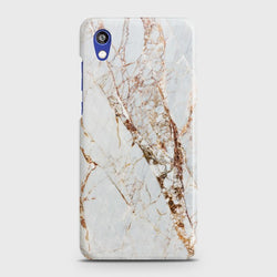 HUAWEI HONOR 8S White & Gold Marble Case