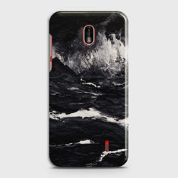 NOKIA 1 PLUS Black Marble Customized Case