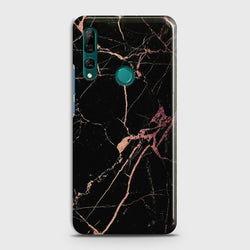 Huawei P Smart Z Black Rose Gold Marble Case