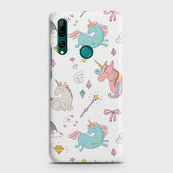 Huawei P Smart Z Neon Rainbow Unicorn Case