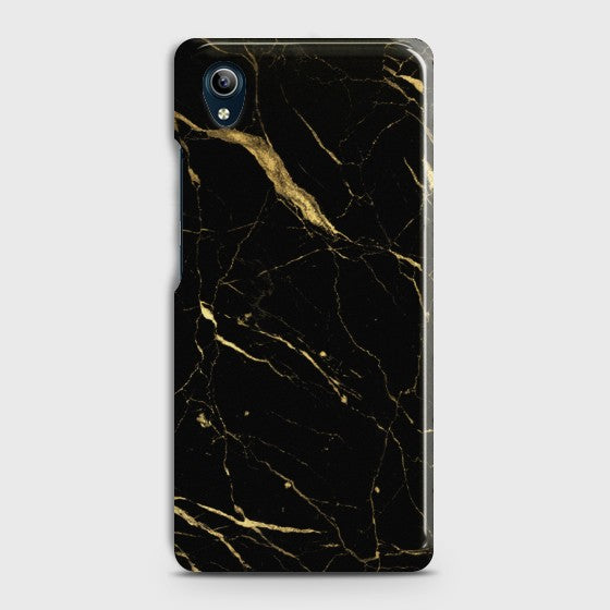 VIVO Y90 Classic Golden Black Marble Case
