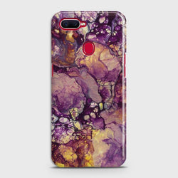 OPPO A5s Purple Agate Marble Case