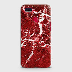 OPPO A5s Deep Red Marble Case