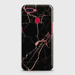 OPPO A5s Black Rose Gold Marble Case