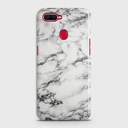 OPPO A5s Trendy White Marble Case
