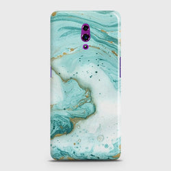 OPPO RENO Aqua Blue Marble Customized Case