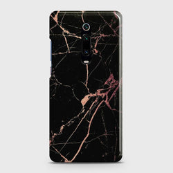 XIAOMI MI 9T Black Rose Gold Marble Case